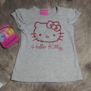H E L L O | K I T T Y Gray crewneck t shirt